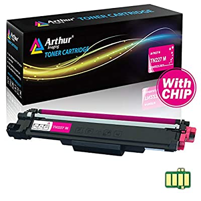 Arthur Imaging with CHIP Compatible Toner Cartridge Replacement Brother TN227 (Magenta, 1 Pack)