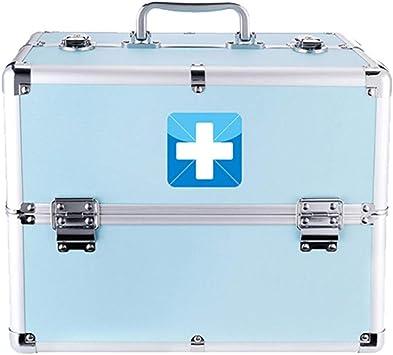 YXYXX Portátil Botiquín de Primeros Auxilios,Metal Doble Capa Multifuncional Caja de Almacenamiento Médico,Casa Impermeable Botiquín de Primeros Auxilios Vehículo Oficina Robusto/azul / 330×2: Amazon.es: Bricolaje y herramientas