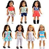 Bili 18 inch Doll Clothes, 7 Outfit Doll Accessories compatibled with18 inch American Girl Doll
