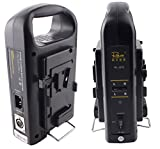 Sunwin New Portable V Lock Camera Battery Charger 2 Channel Sonny V-mount Rechargeable Li-oon Battery Charger Power Supply/AC Adaptor RL-2KS For Sony Camera