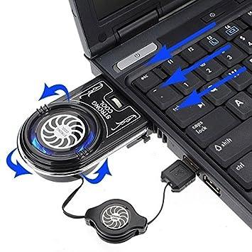 Mini Vacuum USB ventilador de aire extraer F Notebook ordenador portátil LED (tamaño: 8 cm por 6 cm por 2,5 cm, color: negro): Amazon.es: Oficina y ...