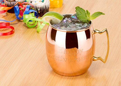 Odi 468 16oz Solid Copper Moscow Mule Mug Flanged Lip