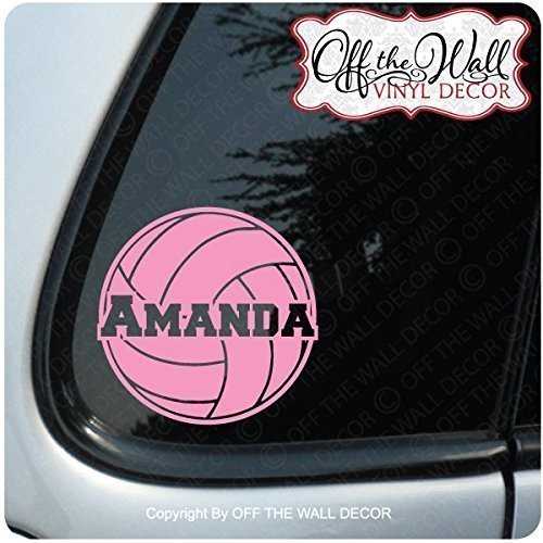 "Volleyball ""PERSONALIZED"" FOR: Cars / Trucks / Vehicle Vinyl"