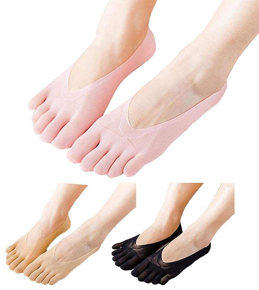 HONOW Women s No Show Toe Socks Invisible Liner Summer Casual (Pack of 3)  at Amazon Women s Clothing store  16ad368546
