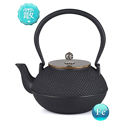 TOWA Workshop Tetsubin Teapot Cast Iron Japanese Style Hobnail 44OZ for Tea Brewing