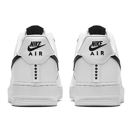 Nike Mens Air Force 1 07 Scarpa, Bianco / Nero, 13