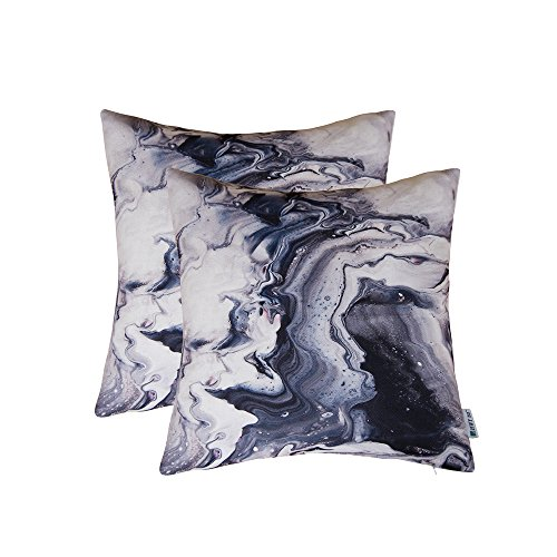 HWY 50 Throw Pillows Covers For Couch / Bed 18 by 18 inch , Set of 2 Thicken Cotton linen Printing Home Decorative Sofa Throw Pillows Cases , Contemporary Art ink painting Cushion Covers Contemporary Decorative Pillow
