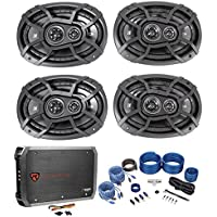 (2)Pairs Of Kicker 43CSC6934 6x9 2-Way Car Speakers+4 Channel Amplifier+Amp Kit