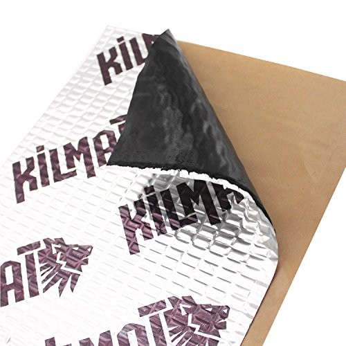 Kilmat 50 mil 50 sqft Car Sound Deadening Mat, Butyl Automotive Sound Deadener, Audio Noise Insulation and dampening (Best Insulation For Noise)