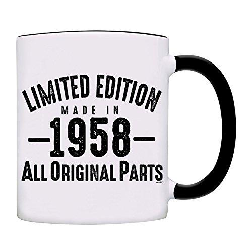 Mug 1958-60th Birthday Gifts Limited Edition Made In 1958 All Original Parts Coffee (Original Coffee Mugs)