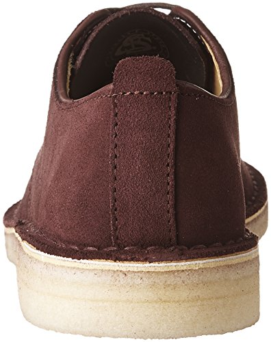 Clarks Mens Desert London Oxford Scarpe Bordeaux In Pelle Scamosciata