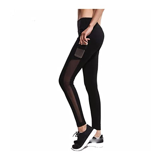 c92a6acb296601 Mr.Macy New Fashion Women's Fashion Workout Leggings Mesh Fitness Sports Gym  Running Yoga Athletic