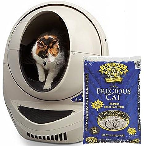 Aserrín Robot III Open Air - Automático Aserrín Limpieza incluido caja w/Precious 40 lb Cat Ultra Premium apelmazarlas Aserrín para gatos: Amazon.es: ...