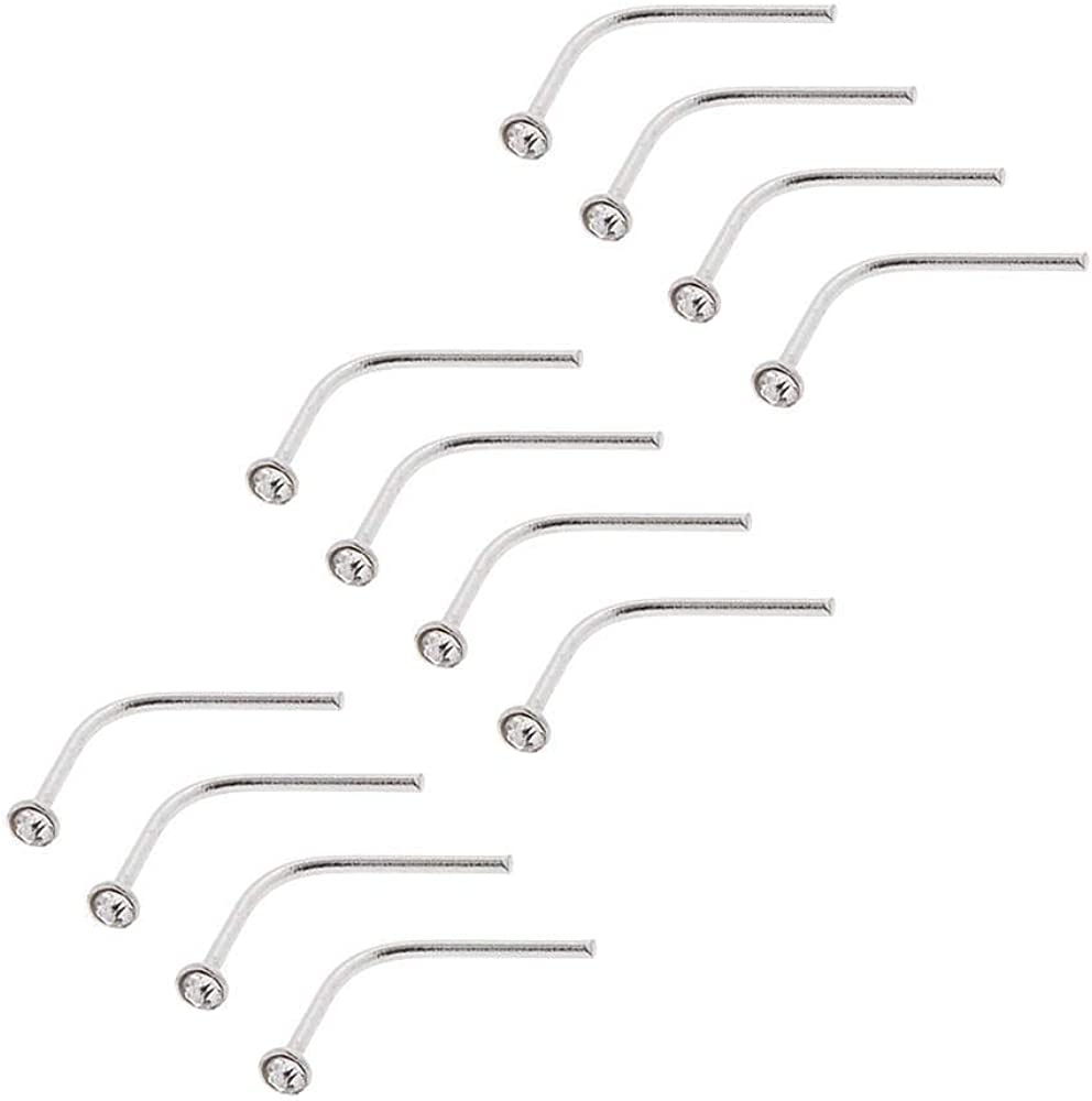Icing Womens Sterling Silver 20G Nose Studs 12 Pack