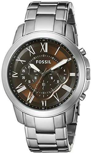 - Fossil Men's FS5090 Grant Chronograph Stainless Steel Watch