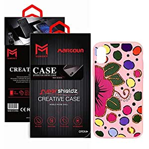 Margoun TPU Pinky Case with Polkadots/Multicolour Design Compatible for Apple iPhone X/XS