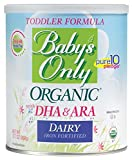 Baby's Only Organic Dairy Toddler Formula wuth DHA & ARA, 12.7 oz (Pack of 6)