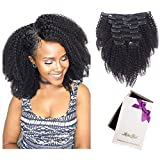Best Clip In Hair Extensions For African American Hairs - Afro Kinky Curly Clip In Human Hair Extensions Review