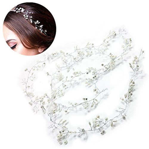 Frcolor Wedding Headband,Bridal Headpieces for Bridesmaid and Flowergirls
