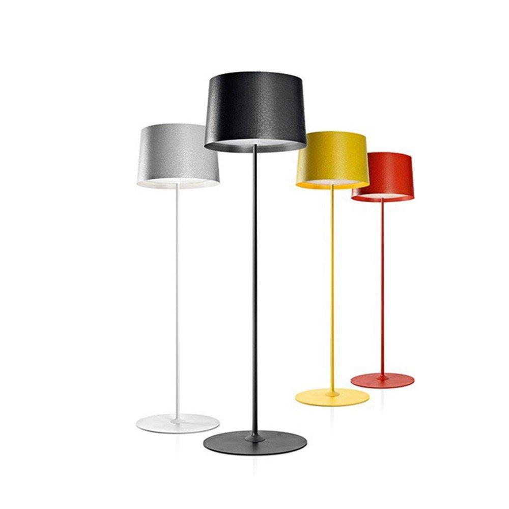Cwill Post moderne Design Stehleuchte Schwarz Weiß Stehleuchte Metall Schlafzimmer Studie Wohnzimmer el Wohnung E27 LED Lampe, Stehlampe, Gelb