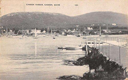 - Camden Maine scenic view Camden Harbor boats ships antique pc Z22401
