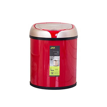 FOONEE - Cubo de Basura con Sensor de Movimiento automático, 6 L, con Tapa