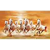 Art Factory Vaastu Seven Horse Canvas Painting (Small) - Original Artist Work (Copy Right Protected)