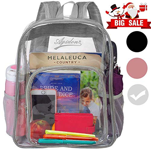 Clear Backpack, Heavy Duty See Through Backpack, 16