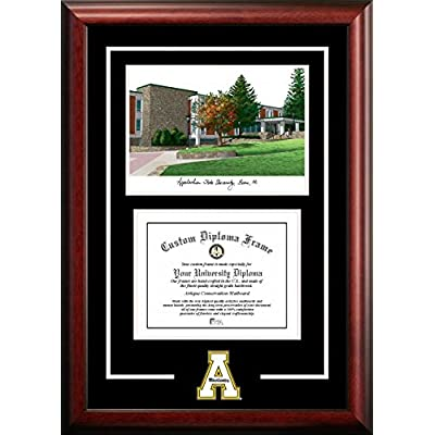 Image of Artwork Campus Images NC998SG Appalachian State University Spirit Graduate Diploma Frame with Lithograph Print, 8.5' x 11'