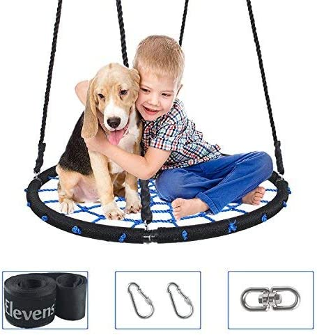Elevens 1M/40'' Tree Swing with Swing Set Anchors and Tree Strap