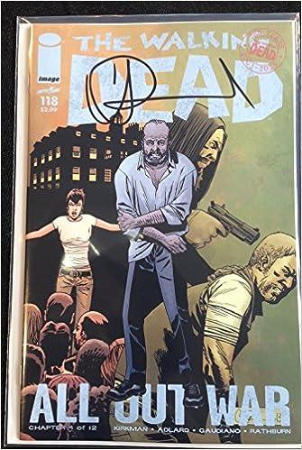 IMAGE COMICS THE WALKING DEAD #120 SIGNED BY CHARLIE ADLARD