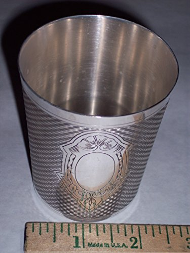Old French Wine Sampling CUP / Mint Julep / Monogrammable Christening Baby, Silver-Plated Antique Beaker circa 1930 by ERCUIS France model 2716, 7grams silver - Silverplate Mint
