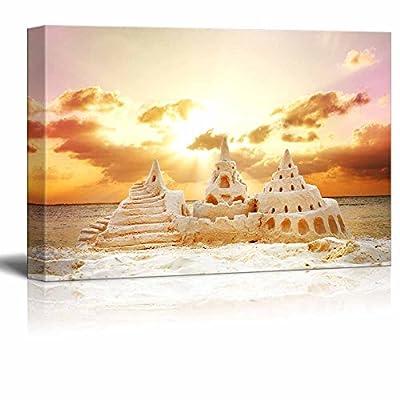 it is good, Grand Handicraft, Sand Castle Over Sunset on The Beach Wall Decor