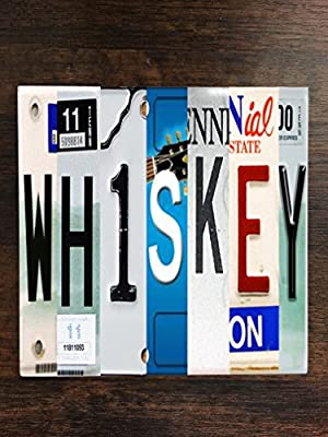 """Whiskey Tennessee License Plates One Piece Premium Ceramic Tile Coaster 4.25""""x4.25"""" Square Drink Protection for Coffee Tables by Moonlight Printing"""
