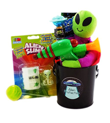 Spooky Alien Protection Kit Candy Toy Gift Basket (Walking Dead Gift Basket)