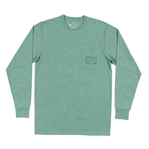 Southern Marsh Men's L/S Authentic Washed Hunter Green Xl