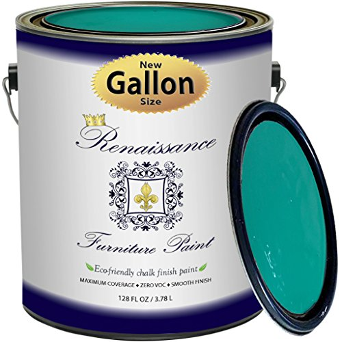Renaissance Chalk Finish Paint - Malachite - Gallon (128oz) - Chalk  Furniture & Cabinet Paint - Non Toxic, Eco-Friendly, Any Color from Any  Major