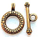 50Sets WHOLESALE Antique Copper ROUND Toggle Clasps Connectors Q0762 DIY Crafting Key Chain Bracelet Necklace Îewelry Accessories Pendants