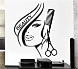 paiea Wall Sticker Removable Home Decor Wall Vinyl Decals Hair Beauty Salon Barbershop Hairdresser Sexy Girl