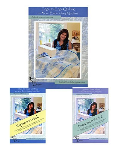 Edge to Edge Quilting Book with CD, Expansion Pack, and Expansion Pack 2 Bundle (Best Friend Embroidery Design)
