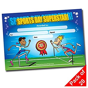PRIMARY Teaching Services A5/ Sport Tag Superstar Zertifikat 20/ St/ück