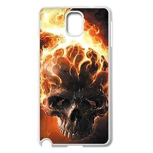 Samsung Galaxy Note 3 Case,Skull & Flame Hard Shell Case for Samsung Galaxy Note 3 White Yearinspace071023
