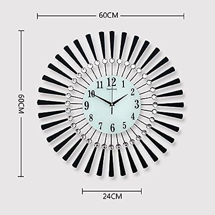 Reloj relojes Dibujo creativo personalidad reloj de pared Reloj de cuarzo de dormitorio moderno minimalista mute