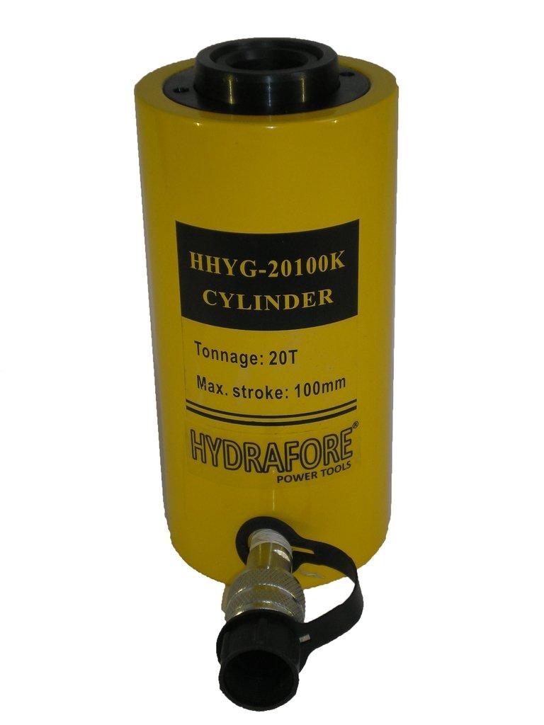20 tons 4'' stroke Single acting Hollow Ram Hydraulic Cylinder Jack YG-20100K
