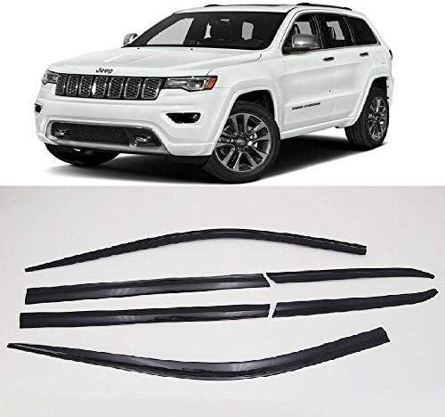 4-Piece Set for 2011-2018 Jeep Grand Cherokee Auto Ventshade 794015 Low Profile Ventvisor Side Window Deflector with Chrome Trim
