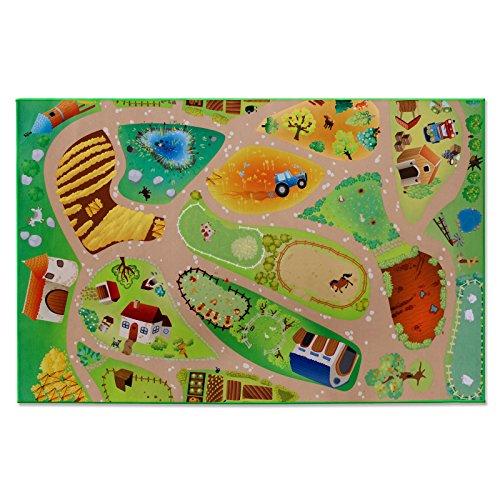 Floori® Spielmatte Unsere Farm | Bauernhof mit Tieren | Phthalat-frei | in 2 Größen (100 x 150 cm)