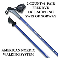 #1 Selling Nordic Walking Fitness Poles in the USA! Real Nordic Walking Poles! ALL 32 sizes in stock and ready to ship - FAST shipping. Quality 1-piece construction designed for every day use - dependable, user friendly(unlike cheap/flimsy co...