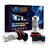 VANSSI H8 H11 LED Fog Lights Bulbs or DRL Lamp -21SMD-5500K-6000K White (Pack of 2)