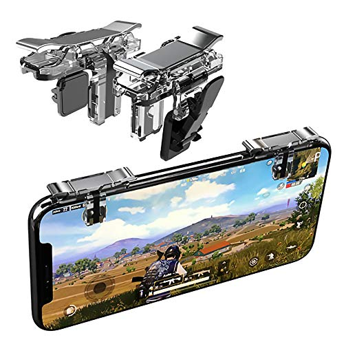 Mobile Game Controller, Norhu Cell Phone Game Triggers – Sensitive Shoot and Aim Buttons Shooter Handgrip with an Adjustable Tighten Clasp- 1Pair(L1R1)
