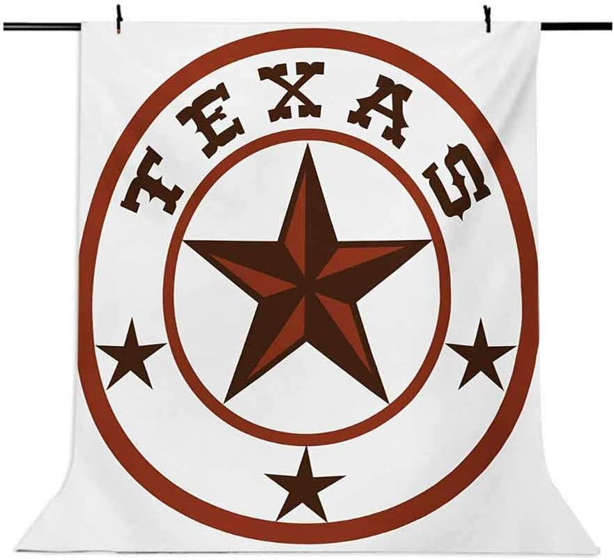 Texas Star 10x12 FT Photography Backdrop Round Symbol with Lone Star Earth Toned Monochromatic Illustration Background for Child Baby Shower Photo Vinyl Studio Prop Photobooth Photoshoot